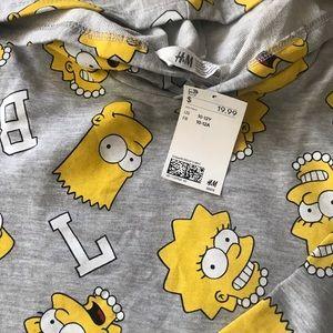 The Simpsons cropped hoodie